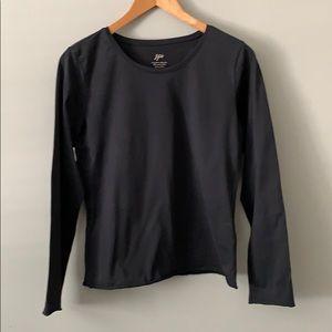 J. Jill black long sleeved fitted tee
